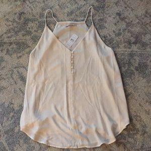 LOFT Ivory Camisole Shell Sz L